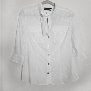 Club Monaco Womens M Button Down Dressy Shirt